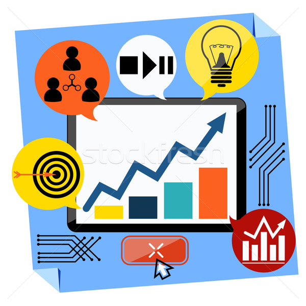 Presentación negocios desarrollo diseno buena idea Foto stock © robuart