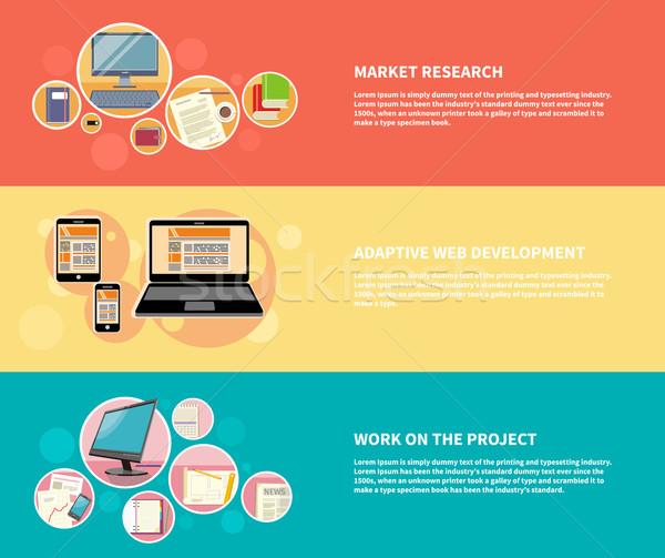 Market research, adaptive development Stock photo © robuart