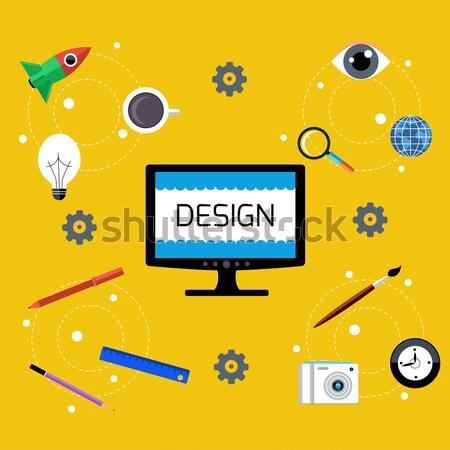 Creative idée design graphique design Photo stock © robuart