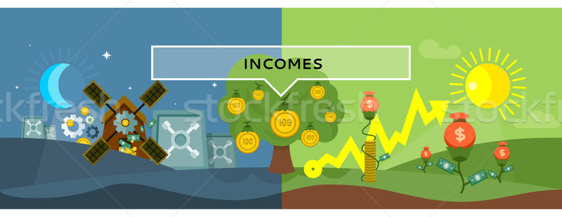 Incomes Concept Design Style Flat Stock photo © robuart