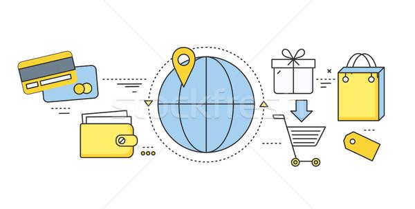 Online jegy foglalás előre bejelentkezés szállás közlekedés Stock fotó © robuart