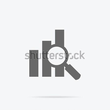 Loupe données analyse bannière graphique Photo stock © robuart