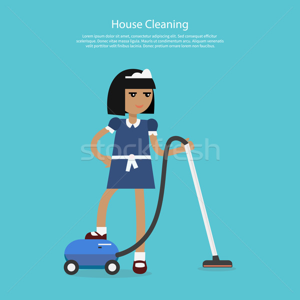 House Cleaning Template Web Page Stock photo © robuart