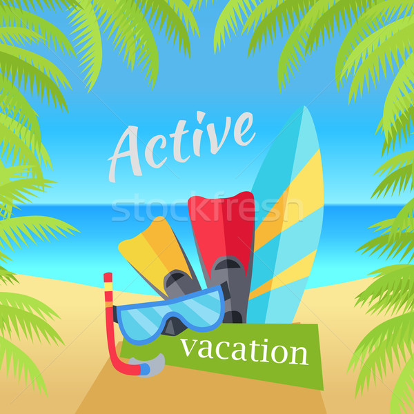 Summer Vacation Concept Illustration Foto stock © robuart
