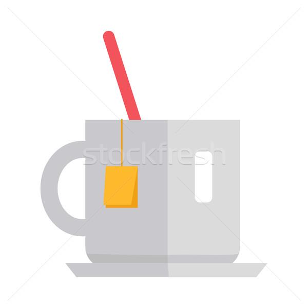 Кубок чай дизайна вектора стиль белый Сток-фото © robuart