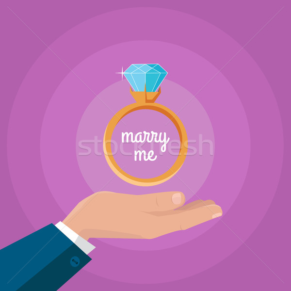 Stock photo: Marry Me Vector Concept in Flat Design.
