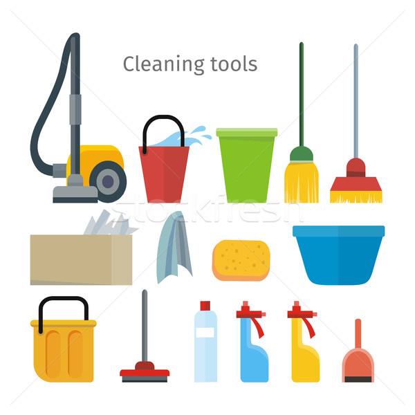 Cleaning Tools Isolated. House Washing Equipment. Stock photo © robuart