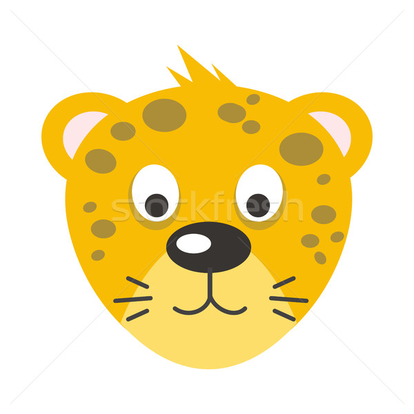 Leopard Face Vector Illustration in Flat Design Stock photo © robuart