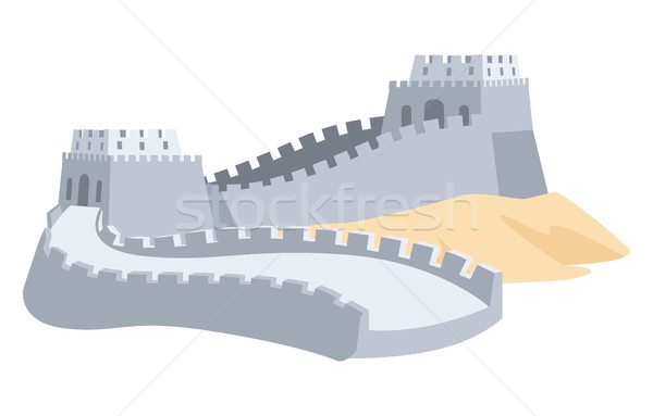 Great Wall of China. Part of Ancient Structure Stock photo © robuart
