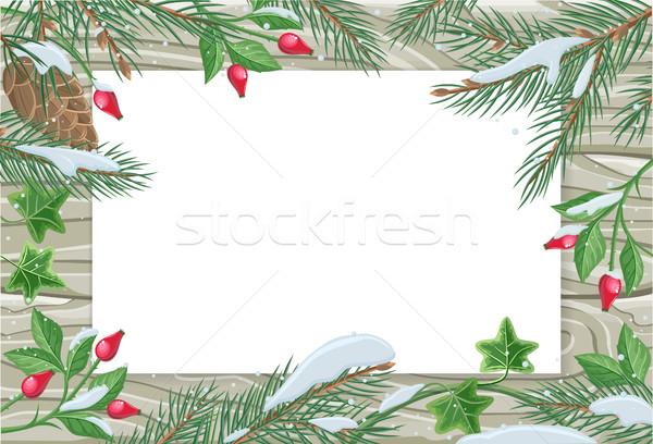 向量 帧 松树 常春藤 复制空间 木 商业照片 robuart