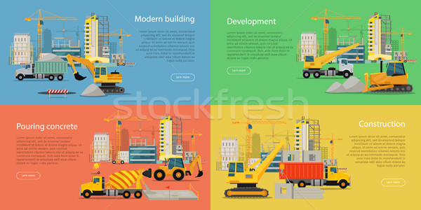 Set of Building and Construction Web Banners Stock photo © robuart