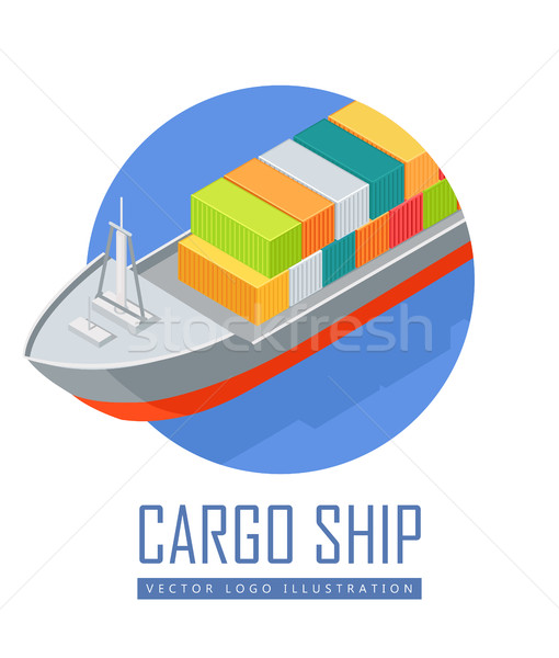 Cargo Ship Vector Icon in Isometric Projection Stock photo © robuart