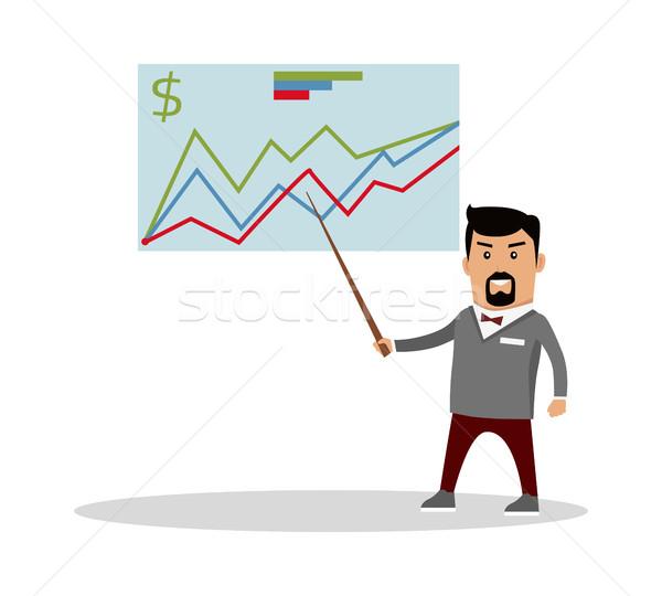 Financiële prognose vector ontwerp economie illustratie Stockfoto © robuart