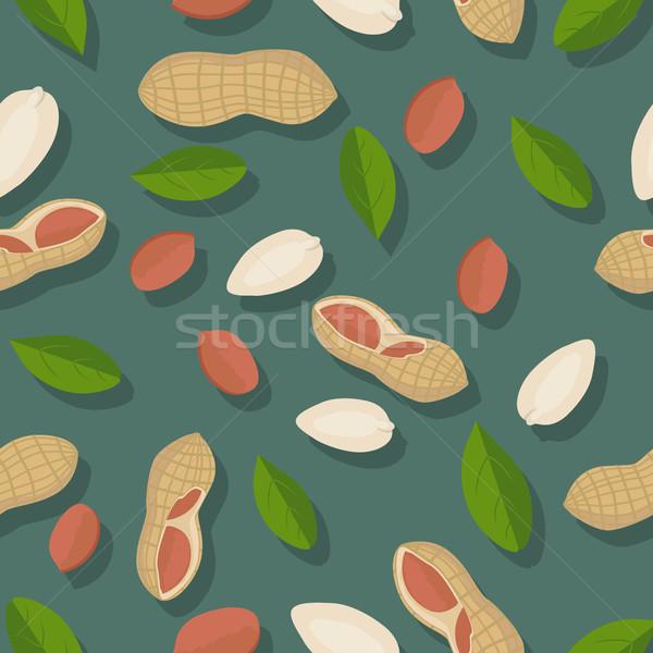 Pinda rijp bladeren donkere groene Stockfoto © robuart