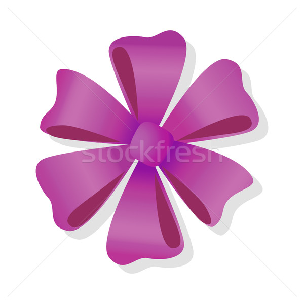 Purple Flower Bow Isolated. Pussy Bright Bow Knot. Stock photo © robuart