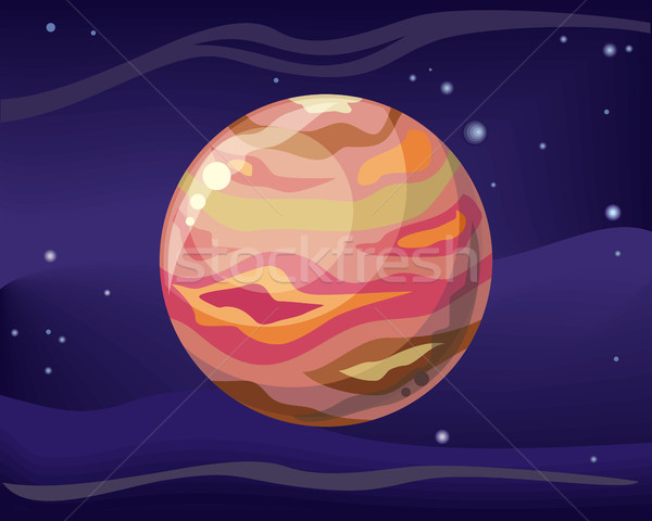 Planet Jupiter in Space Background Stock photo © robuart