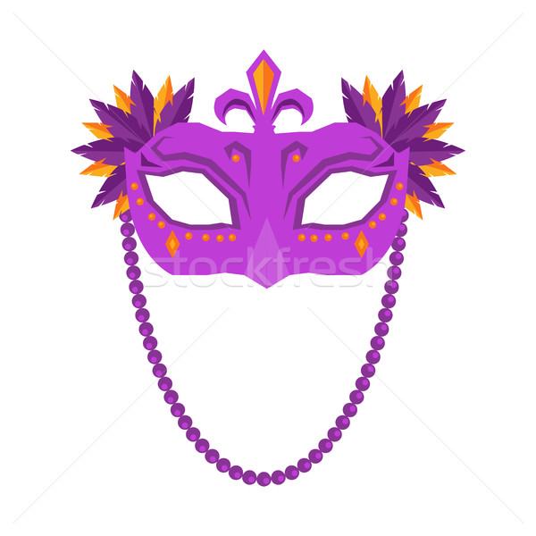 Mardi Gras Mask Isolated on White Background. Stock photo © robuart