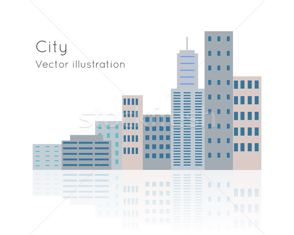 Big City Vector Illustration on White Backgrpund. Stock photo © robuart