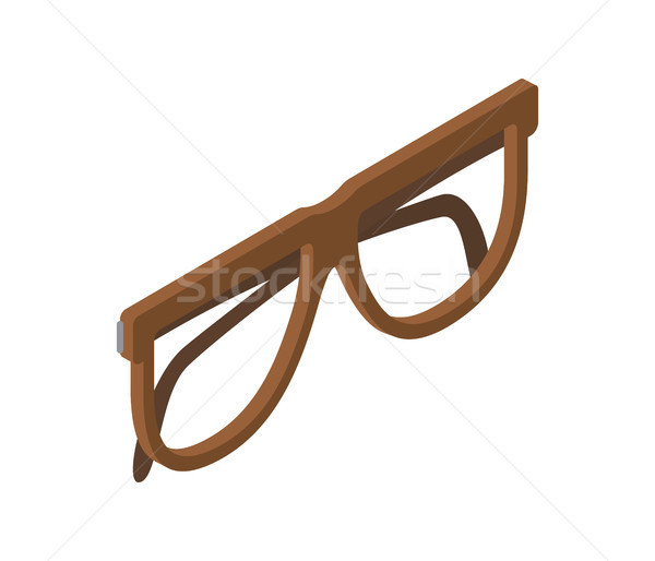 Brown Glasses for Eyesight Isolated Illustration Stock photo © robuart