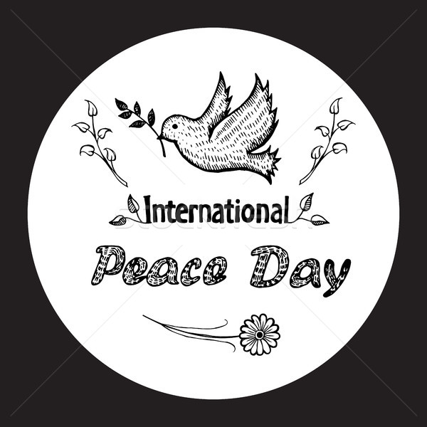 International Peace Day Vector Illustration Logo Stock photo © robuart
