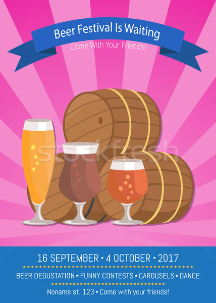 Beer Festival Is Waiting Vector Illustration. Stock photo © robuart