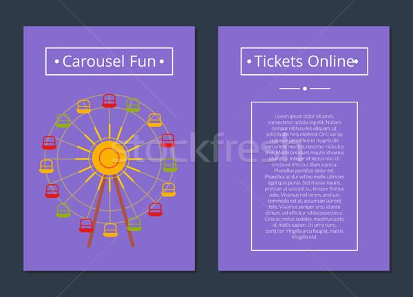 Carrousel leuk tickets online poster Stockfoto © robuart