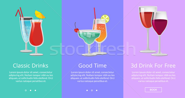 Classic and 3D Drinks for Free ro Have Good Time Stock photo © robuart