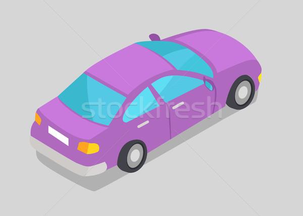 Mor araba pencere yalıtılmış mavi pencereler Stok fotoğraf © robuart