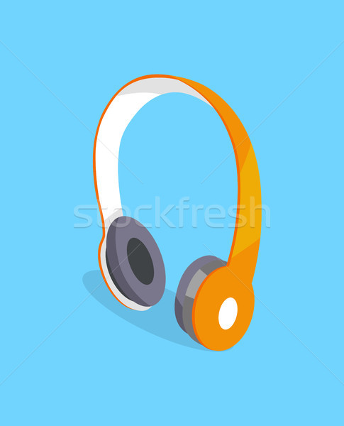 Wireless Headphones Vector Three Dimensional Icon Stock photo © robuart