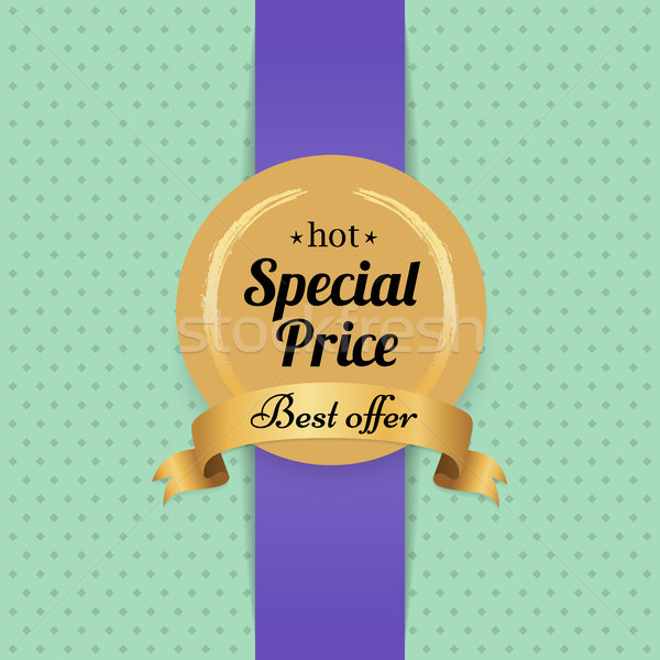 Najlepszy oferta hot specjalny cena reklama Zdjęcia stock © robuart