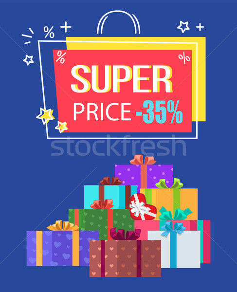 Super Price Special Offer Discount -35 Off Label Stock photo © robuart