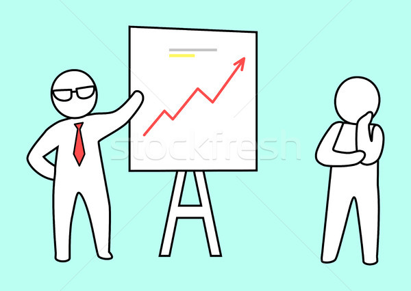 Smart Leader Showing His Plan Vector Illustration Stock photo © robuart