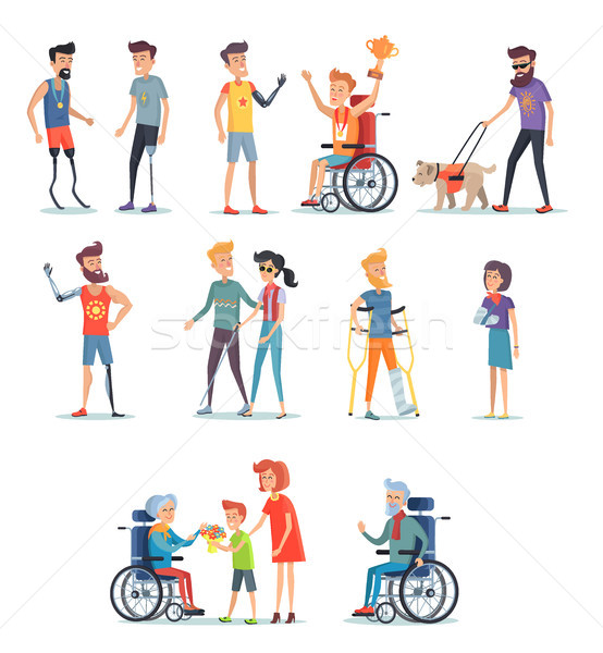 Stock photo: Disabled and Injured People Live Normal Lives