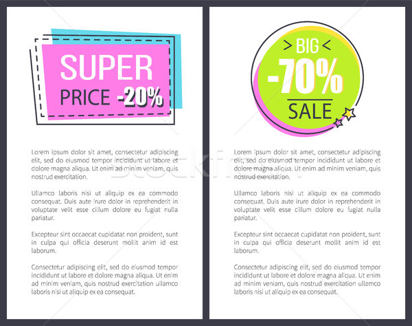 супер цен рекламный квадратный форма Сток-фото © robuart