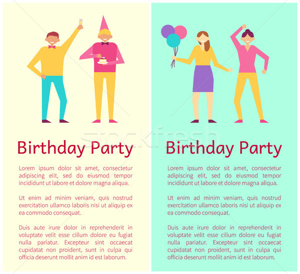 Birthday Party Collection Vector Illustration Stock photo © robuart