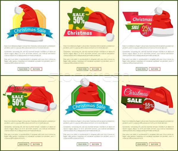 Set of Christmas Sale Ads Vector Illustration Stock photo © robuart