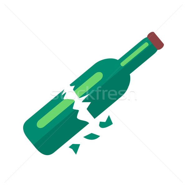Broken Bottle of Beer Isolated Illustration Stock photo © robuart