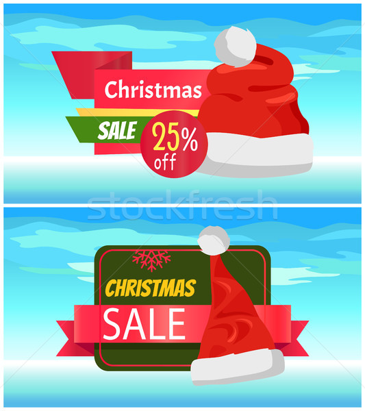 Stock photo: Premium Quality Half Price Christmas Sale Posters