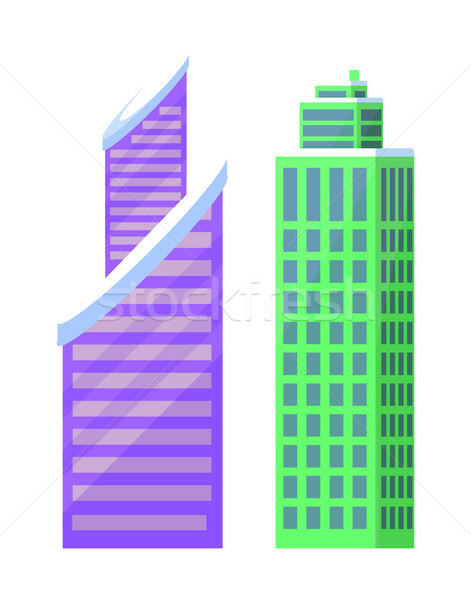Set of City Buildings Icons Vector Illustration Stock photo © robuart