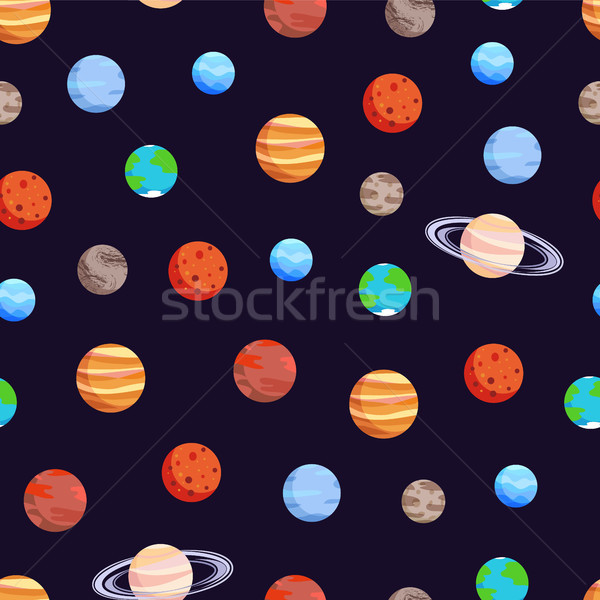 Celestial Bodies Collection Vector Illustration Stock photo © robuart