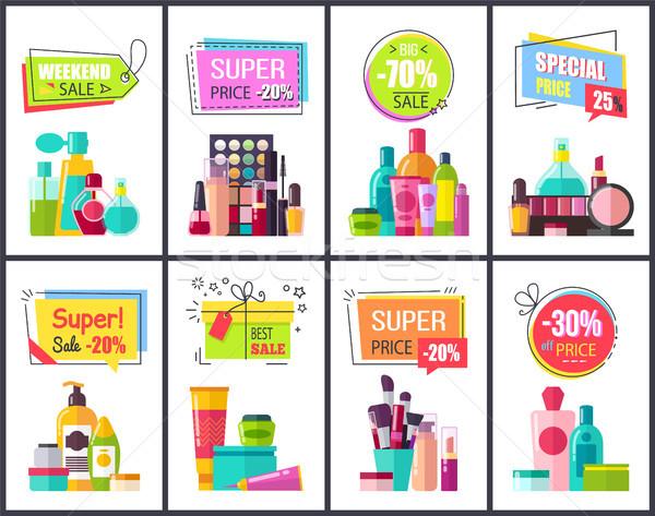 уик-энд продажи косметики плакатов специальный Сток-фото © robuart