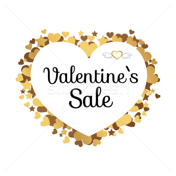 Valentines Sale Poster with Inscription in Hearts Stock photo © robuart