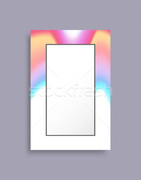 Frame abstractie banner kleurrijk abstract afbeelding Stockfoto © robuart