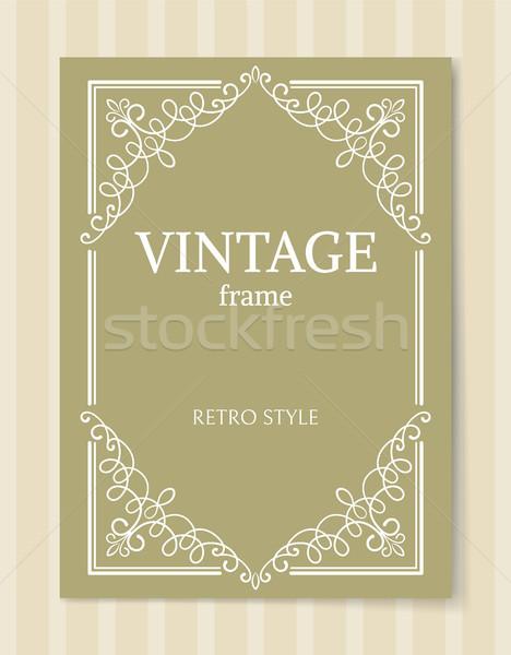 Vintage Frame Retro Style Decorative Curved Border Stock photo © robuart