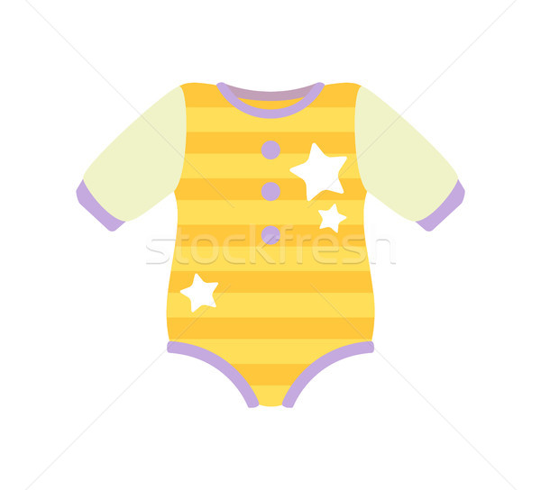 Baby Clothes Romper Suit, Vector Illustration Stock photo © robuart