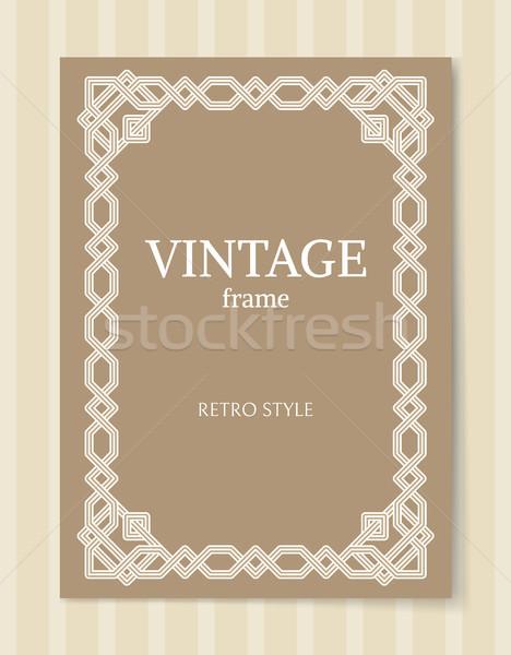 Klasszikus keret retró stílus díszítő grafikus dekoráció Stock fotó © robuart