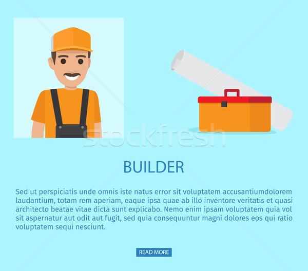 Constructor profesión grasa vector web banner Foto stock © robuart