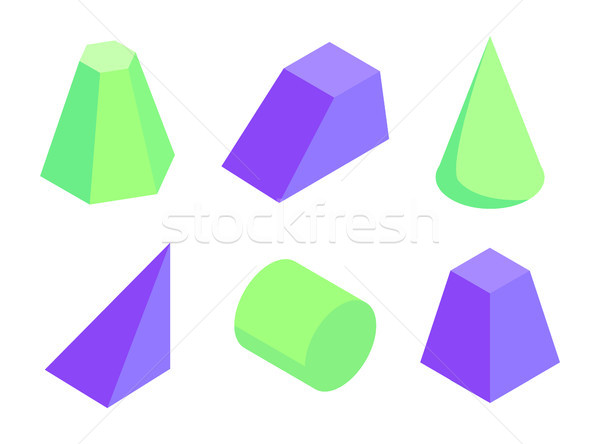 Different Shape Color Geometric Figures Collection Stock photo © robuart