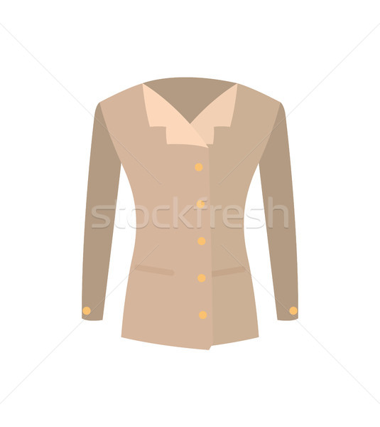 Femae Jacket Double-Breasted with Buttons Vector Stock photo © robuart