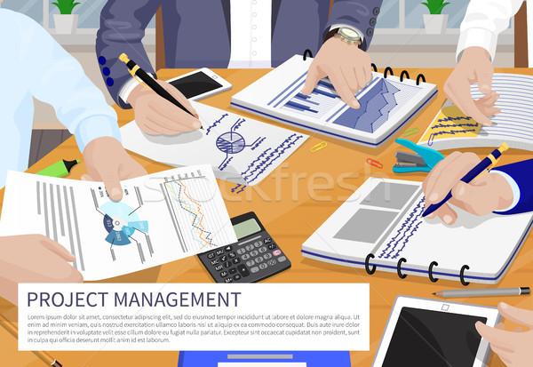 Proje yönetim afiş zaman Bina strateji Stok fotoğraf © robuart